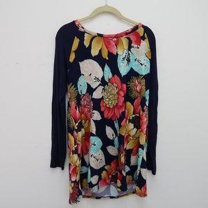 Sun & Moon Women's Floral Long Sleeve Sweater Top